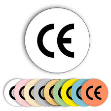 210x CE Logo Labels, 25mm Round Circular Permanent Self-Adhesive Stickers Marks