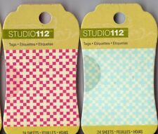 Studio 112 MINI TAG PADS~5 colors~ 24 tags per pad BN~So useful!!  Quick Ship!