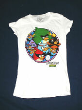 New Juniors Angry Birds White Space T-Shirt  S 3-5 Small