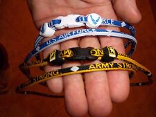 Army, Navy, Airforce, Marines Titanium Necklaces Single or 3 Rope -  NEW