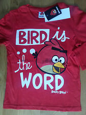 Superbe Tee shirt Angry Bird longues manches, 4, 6, 8, 10, 12 ans rouge