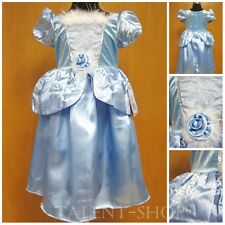 Princess Cinderella Baby Girls Blue Fancy Dress Costume Size 2T-3T-4T-5T-6T-7T
