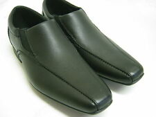 CLARKS MENS SLIP ON BLACK LEATHER SHOES   FORBES STEP G FIT