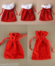 PACK OF 12 RED VELVET POUCHES : WHOLESALE / BULK BUY  CHOOSE POUCH SIZE: SP-