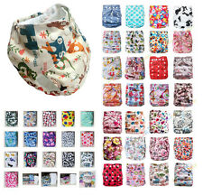 New Baby Infant Printed Cloth Diaper One Size Reusable TPU Nappy Covers Inserts