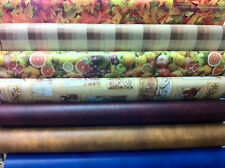 """PVC PLASTIC WATERPROOF VINYL OILCLOTH  54""""wide over 18 print EASY TO WIPECLEAN"""