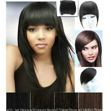 100% Remy human hair extension clips in bang hair Side Fringes To Pick free ship