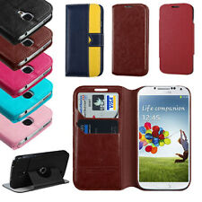 Folio Wallet Book Style PU Leather Flip Pouch Case for Samsung Galaxy S4 S IV