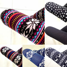Fashion Hot  Womens Colorful Pattern Retro Knitted Leggings Tights Pants WHF104