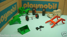 Playmobil 3500 FARM series green tractor parts made in Germany diorama toy 177