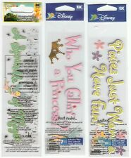 U CHOOSE  Disney SPRINKLE OF MAGIC PIXIES HAVE FUN WHO'S A PRINCESS 3D Stickers