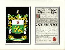 MCGUINNESS Family Coat of Arms Crest + History - Available Mounted or Framed