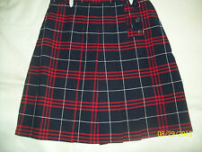 Girls  Plaid Skorts (4-20) French Toast,School Uniforms, All Seasons, Red/navy