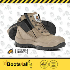 New Mongrel Work Boots Blk Steel Toe Cap/Safety Slip On Easy Escape Style 240011