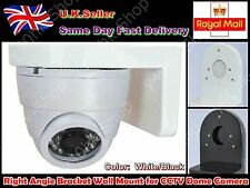 Right Angle Bracket Wall Mount for CCTV Dome Camera (Plastic)