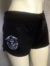 AUTHENTIC SONS OF ANARCHY EMBROIDERED REAPER SKULL FLEECE WOMENS JUNIORS SHORTS