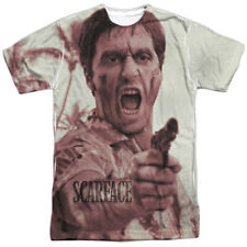 Scarface War Cry Say Hello All Over Sublimation Poly Licensed Adult Shirt S-3XL
