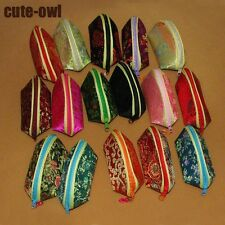 Wholesale 5/10/20/50/100 PCS Gorgeous Handmade Silk Embroidery Coin Bags Purse