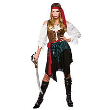 Ladies Caribbean Pirate Pirate Ship Seas Halloween Fancy Dress Costume Outfit
