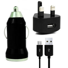 WALL MAINS+CAR CHARGER+MICRO USB LEAD CABLE FOR AMAZON KINDLE FIRE HDPAPERWHITE