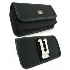 Sideways Rugged Canvas Belt Clip Case Pouch for Apple Cell Phones ALL CARRIERS