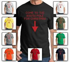 Come To The South Pole For Christmas-Funny Rude Holiday Xmas Santa Gift T-Shirt