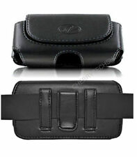 Leather Sideways Belt Clip Case Pouch Cover Magnetic Closure for HTC Cell Phones