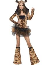 Adult Sexy Fever Zoo Animal Tiger Ladies Fancy Dress Hen Party Costume Outfit