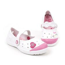 Hello Kitty New Kids Casual Clogs Shoes for Girls Toddler Water Slippers White