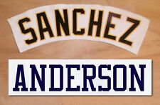 Nameplate with Sewn-on Tackle Twill Letters Pro Baseball Team Uniform Jersey
