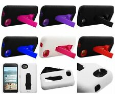 Kickstand Hard Cover Soft Silicone Case For HTC First Facebook Phone