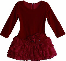 Isobella & Chloe Leslie Girls Red Holiday & Party Dress  2013 NEW $48-$52 NWT
