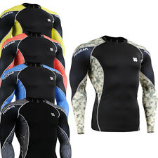 FIXGEAR SKIN COMPRESSION tight T-shirts sport gym running mma  baselayer S~4XL