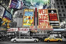 New On Broadway The Theatre Signs of New York City Poster
