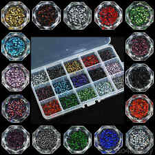 ss6 / 2mm Iron On Hot Fix Rhinestones in Varies Colours and Lots 1440 - 14400pcs