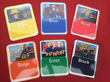 FIREMAN SAM - LEARNING FLASH CARDS- colours/shapes/numbers/alphabet/reward chart
