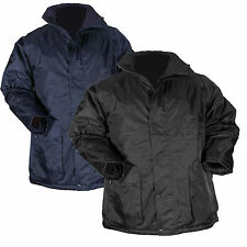 Blackrock WATERPROOF Work Full Length Uniform Parka Coat Mens Quilted Navy Black