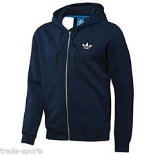 adidas ORIGINALS MENS BLUE SPO FLOCK HOODY SWEATSHIRT FULL ZIP JACKET TT