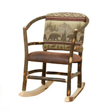 Rustic Hickory Rocking Chair * Hoop Rocking Chair with 5 Fabric Choices*