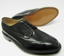 Loake Mens Braemar Black Leather Brogue Laced Shoes Fitting~F