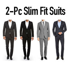 Mens Slim Fit Suit Two Button Modern Style Montato Dual Vent Slim Pant $300