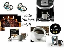 80 Cafe Escapes FROTHERS Bulk Lot KEURIG VUE 2.0 V-CUP Single cup Coffee pods
