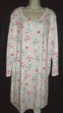 NWT KAREN NEUBURGER *ENCORE* LONG SLEEVE SHORT KNIT GOWN PJ pink snowman 1X  2X