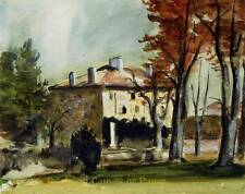 Paul Cezanne the-manor-house-at-jas-de   A2 or A3 giclee Print