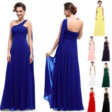 BNWT EVE Chiffon One Shoulder Empire Line Prom Evening Bridesmaid Dress 6-18