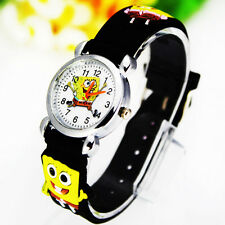 Hot ! New Spongebob Squarepants Children Boy Girl Wrist Watch Christmas Gift CT3