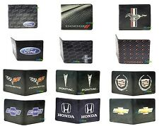 Car Brand Extra Slim Leather Bifold Wallets - Multiple Styles Licensed
