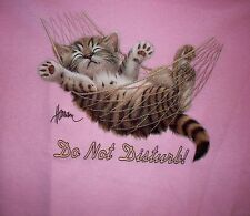 Do Not Disturb Cat in Hammock Women's Crew Neck Sweatshirt S-4X NEW Choose Color