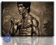 Wall Art Canvas Picture Print Legend Bruce Lee  Framed  Ready to Hang