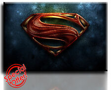 Wall Art Canvas Picture Print of Man of Steel  Framed  Ready to Hang